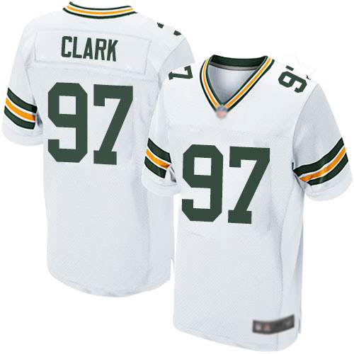 Men's Kenny Clark White Road Elite Football Jersey: Green Bay Packers #97  Jersey