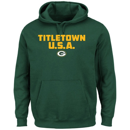 Football Green Bay Packers  Hot Phrase Pullover Hoodie - Green