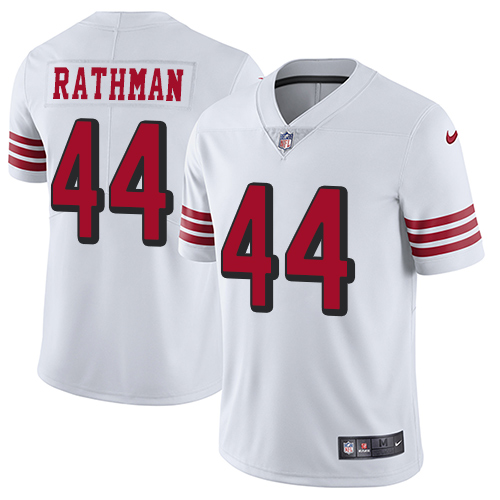 Youth Tom Rathman White Limited Football Jersey: San Francisco 49ers #44 Rush Vapor Untouchable  Jersey