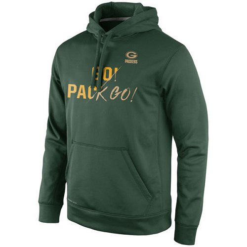Football Green Bay Packers  Gold Collection KO Pullover Performance Hoodie - Green