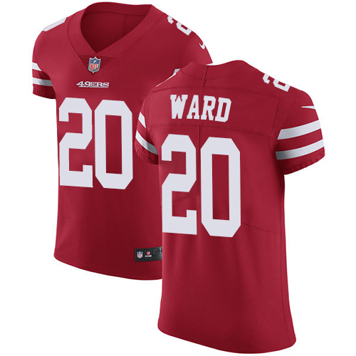 Men's Jimmie Ward Red Home Elite Football Jersey: San Francisco 49ers #20 Vapor Untouchable  Jersey