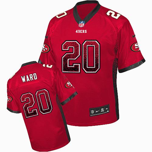 Men's Jimmie Ward Red Elite Football Jersey: San Francisco 49ers #20 Drift Fashion  Jersey