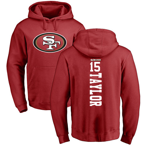 Trent Taylor Red Backer Football : San Francisco 49ers #15 Pullover Hoodie