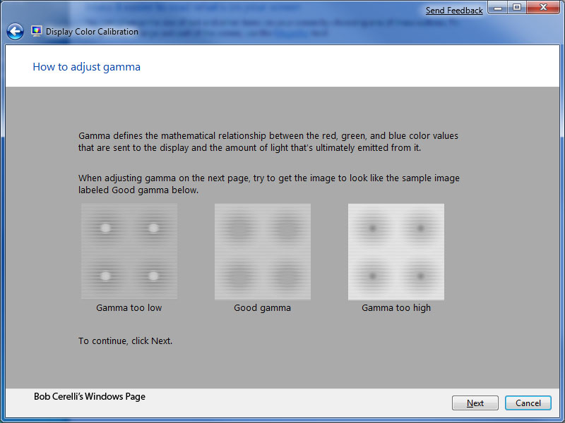 Windows 7 Calibrating Your Monitor's Color