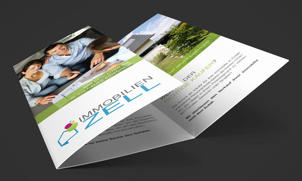 Akquisefaltblatt Verkauf DIN lang - Personalisert für Zell Immobilien