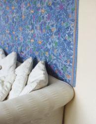 Tissu batik pour décoration murale - bleu