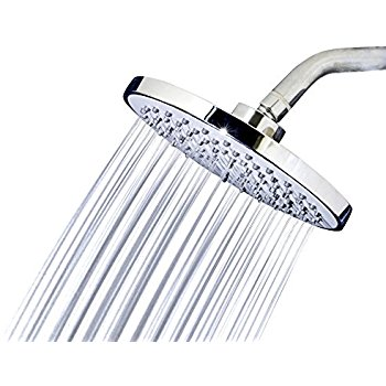 WaterPoint 8-Inch High Pressure Rainfall Showerhead with Brass Swivel Ball, Polished Chrome