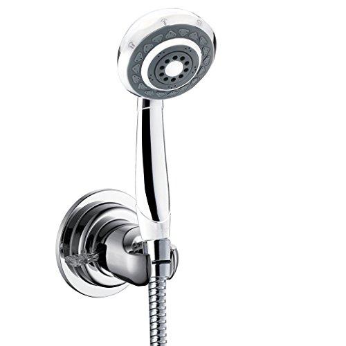 Bopai Vacuum Suction Cup Shower Head Wall Mount Holder Removable Handheld Showerhead & Bidet Sprayer Adhesive Bracket Chrome