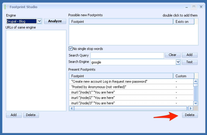 GSA Search Engine Ranker Purge Bad Footprints