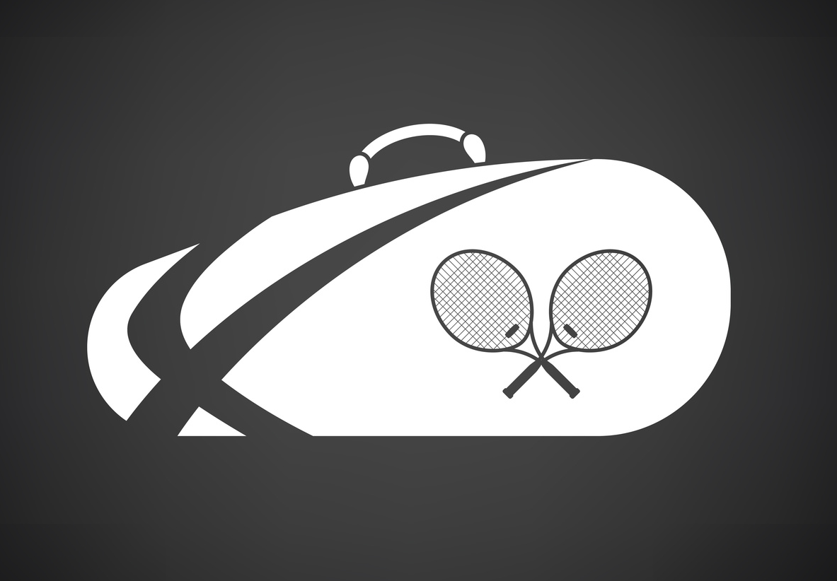An illustration of a tennis bag