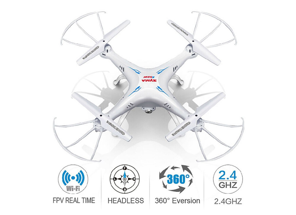 Cheerwing Syma X5SW-V3 FPV Explorers2 2.4Ghz 4CH 6-Axis Gyro RC Headless Quadcopter Drone UFO with HD Wi-Fi Camera (White)
