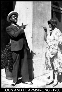 Louis and Lil Hardin-Armstrong 1930