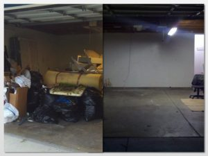 Garage decluttering is part of our hauling services we provide.