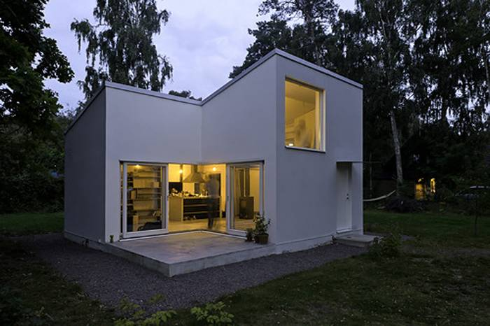 Minimalist Modern Concrete Small House Plans
