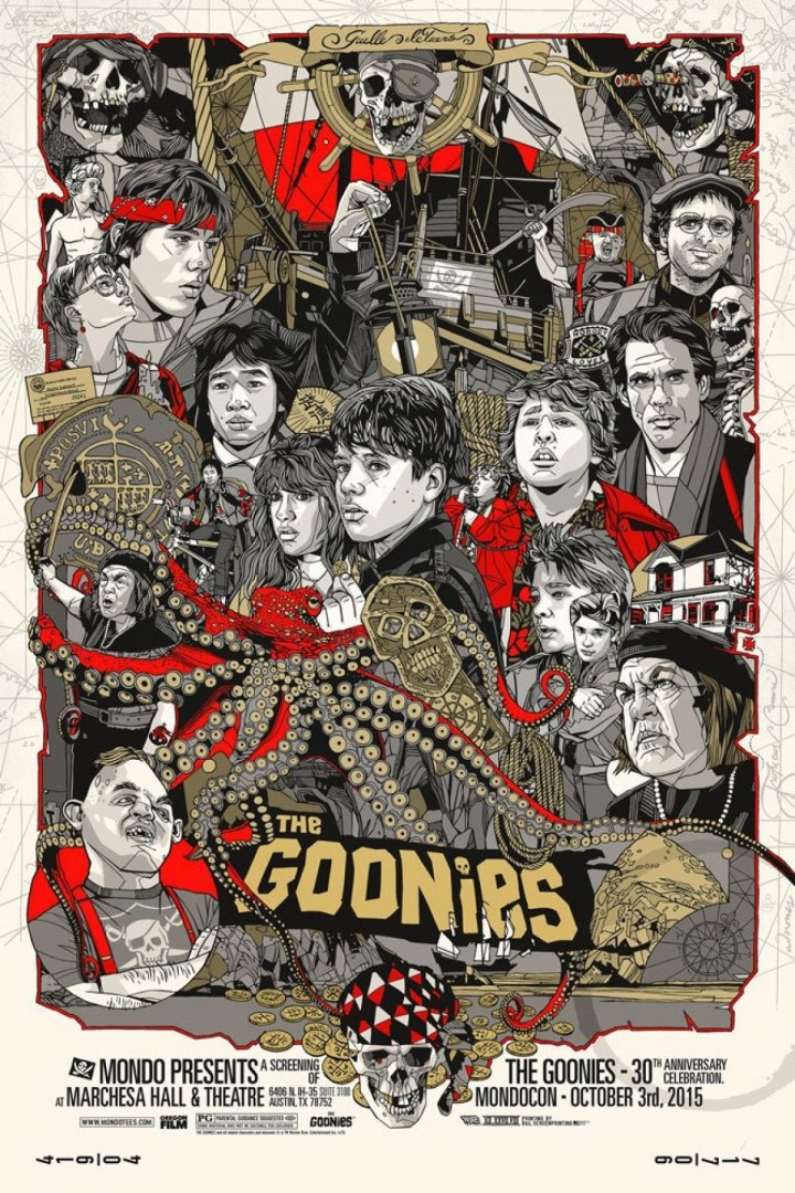 'The Goonies' by Tyler Stout for MondoCon 2015