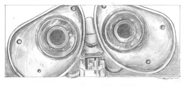 'Wall-e' pencils by Jason Edmiston for MondoCon 2015