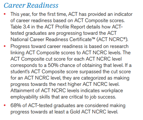 ACT Career readiness 2016