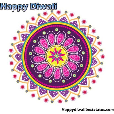 Simple Rangoli Designs with Dots for Diwali