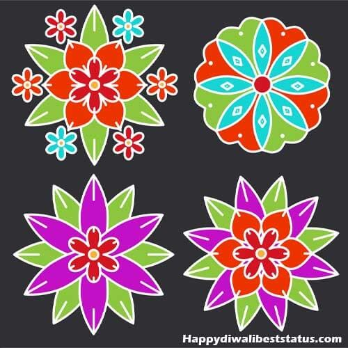 Simple Rangoli Designs with Dots