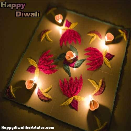 Rangoli Design with the Colorful flowers