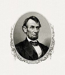 Bureau of Engraving and Printing portrait of Lincoln as president