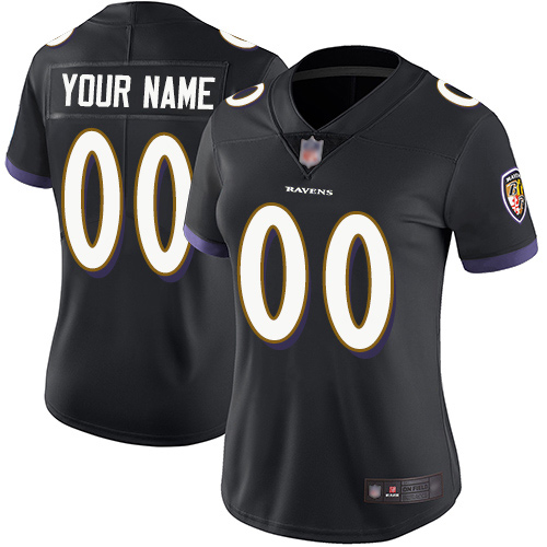Women's Black Alternate Limited Football Jersey: Baltimore Ravens Customized Vapor Untouchable  Jersey