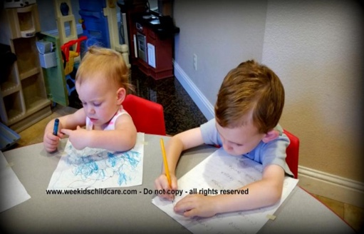 Toddlers Writing