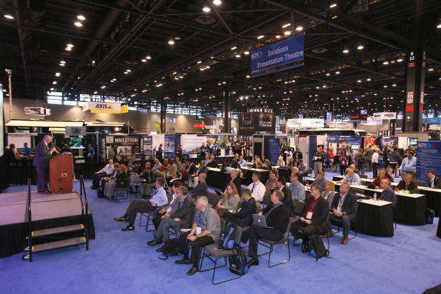 The Solutions Presentation Theatre offers attendees education outside the classroom and in the Expositional Hall.