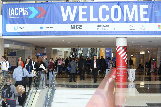 Attendees arrive at McCormick Place West Convention Center for IACP 2015