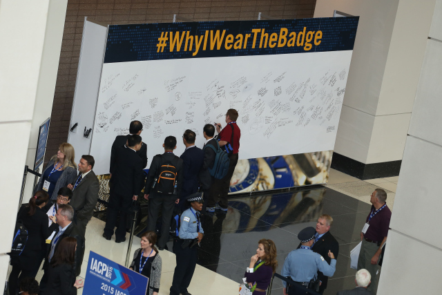 Law enforcement officers from around the world share their #WhyIWearTheBadge reason.