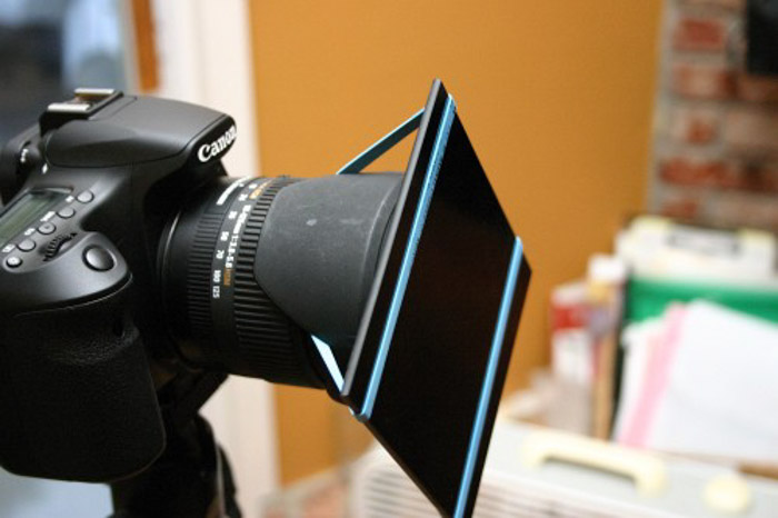 A canon DSLR with ND filter attached - how to remove vignetting