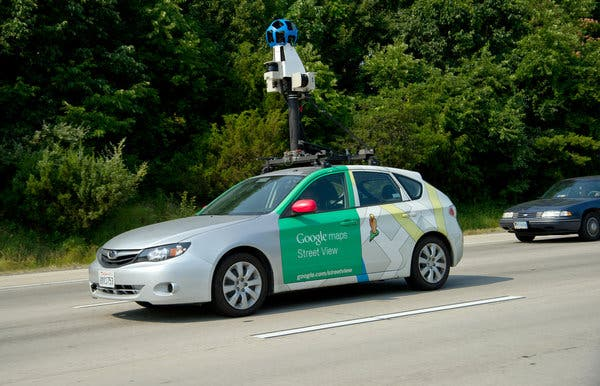 Cars like this one helped Google collect imagery for Street View. But the cars also collected data from private networks.