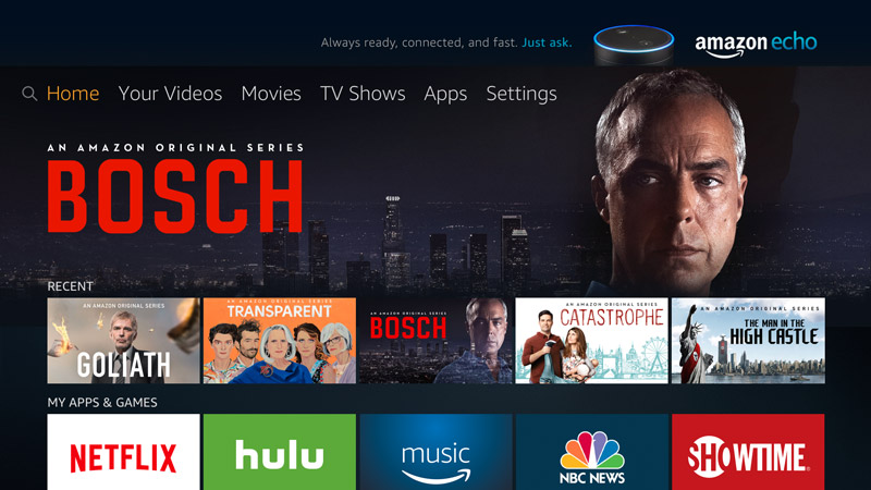 Amazon Fire TV Home Screen