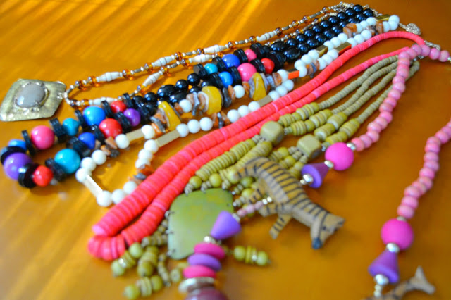 beaded necklaces from an estate sale