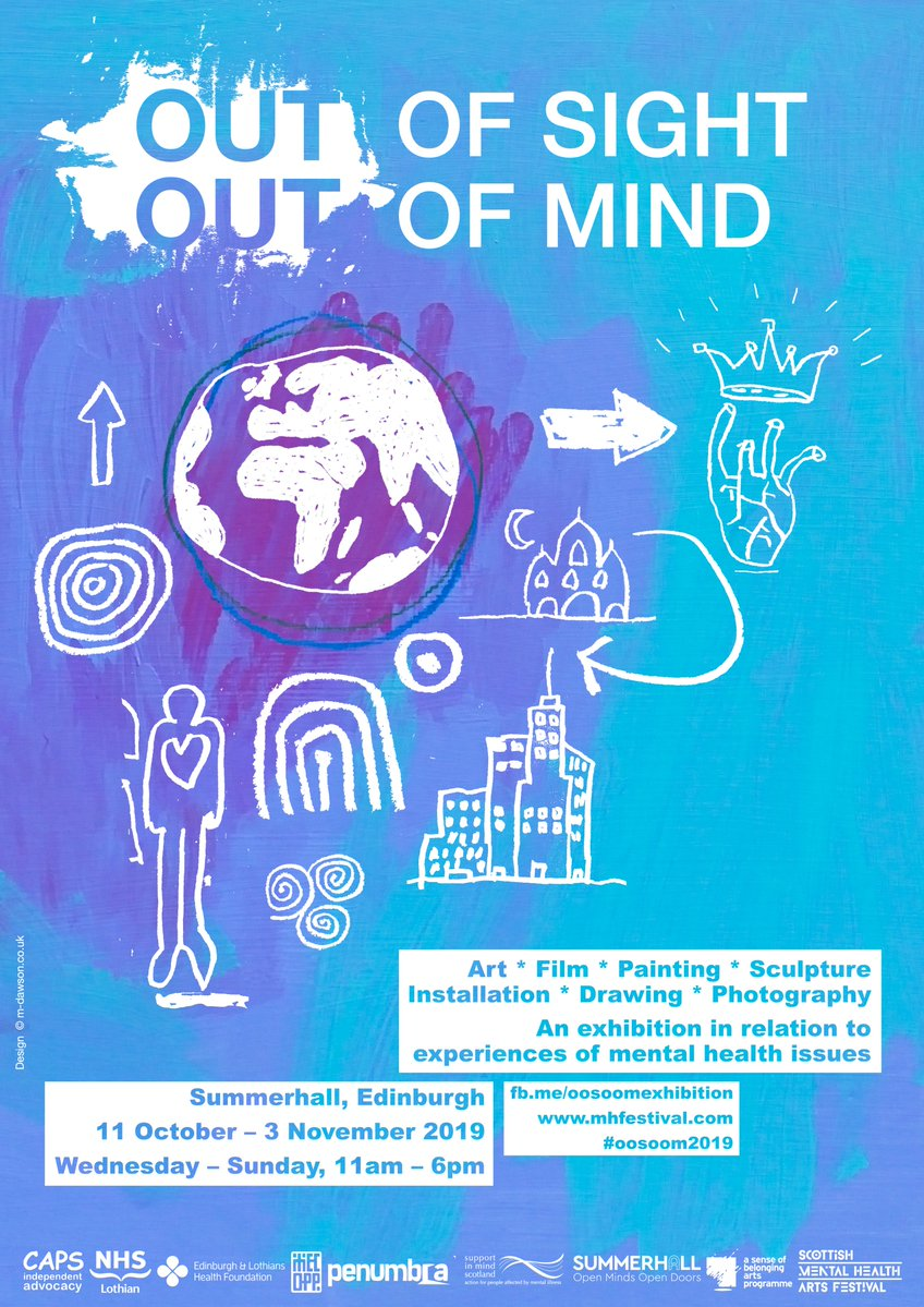 Poster for the Out of Sight Out of Mind exhibition at Summerhall in Edinburgh, 11 October - 3 November 2019