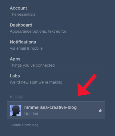 Click On Your Tumblr Blog