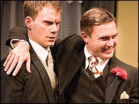 Will Thorp and Alex Ferns in Strangers On A Train
