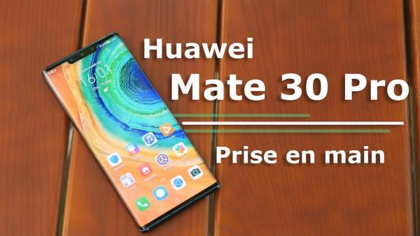 图为华为手机新产品Mate 30