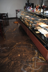 Custom Metallic Epoxy Floor Made to Look Like Chocolate