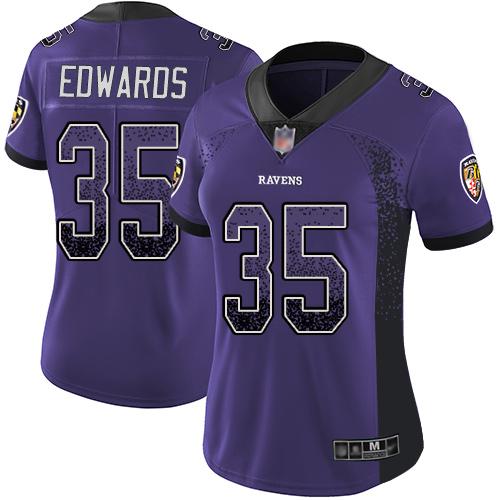 Women's Tyler Ervin Purple Limited Football Jersey: Baltimore Ravens #39 Rush Drift Fashion  Jersey