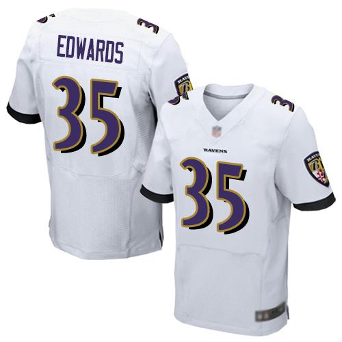 Men's Maxx Williams White Road Elite Football Jersey: Baltimore Ravens #87  Jersey
