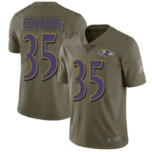 Youth Tyler Ervin Olive Limited Football Jersey: Baltimore Ravens #39 2017 Salute to Service  Jersey