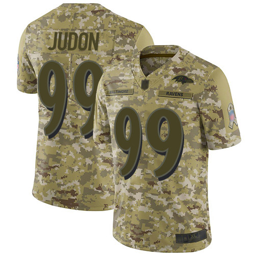 Youth Matt Judon Camo Limited Football Jersey: Baltimore Ravens #99 2018 Salute to Service  Jersey
