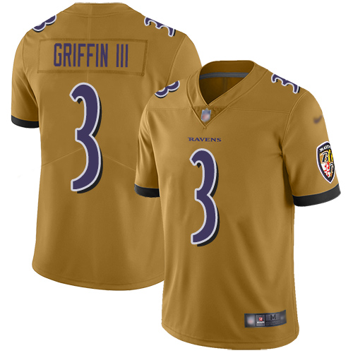Robert Griffin III Purple Backer Football : Baltimore Ravens #3 Pullover Hoodie