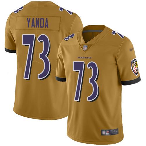 Women's Marshal Yanda Purple Backer Football : Baltimore Ravens #73 Pullover Hoodie