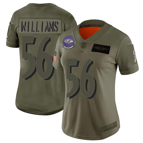 Men's Tim Williams Purple Limited Football Jersey: Baltimore Ravens #56 Tank Top Suit  Jersey