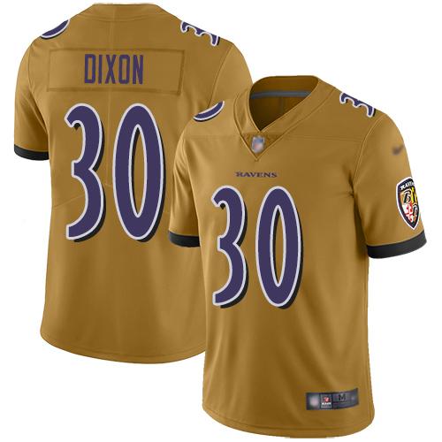 Women's Kenneth Dixon Purple Backer Football : Baltimore Ravens #30 Pullover Hoodie