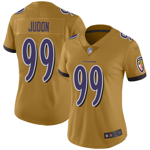 Women's Matt Judon Ash One Color Football : Baltimore Ravens #99 Pullover Hoodie