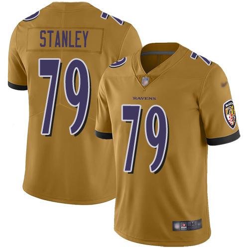 Women's Ronnie Stanley Purple Backer Football : Baltimore Ravens #79 Pullover Hoodie