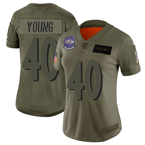 Men's Kenny Young Purple Limited Football Jersey: Baltimore Ravens #40 Tank Top Suit  Jersey
